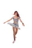 tancerza biel z włosami czerwony zdjęcie royalty free