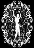 tancerza dyskoteki plakat seksowny Zdjęcia Royalty Free