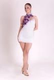 tancerza dziewczyny stroju fachowy biel Fotografia Stock