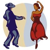 tancerza flamenco royalty ilustracja