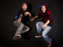 tancerza hip hop serie zdjęcie royalty free