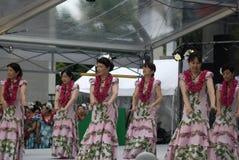 tancerza hula Japan Osaka zdjęcie stock