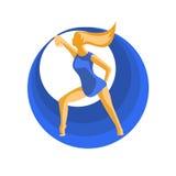 Tancerza i błękita okręgi Zdjęcie Royalty Free