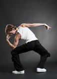 tancerza koszula t miastowy biel Fotografia Stock