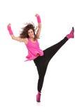 Tancerza mienie wysoka jej noga Obrazy Royalty Free