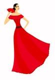 tancerza piękny flamenco ilustracja wektor