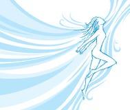 tancerza spływanie Fotografia Royalty Free