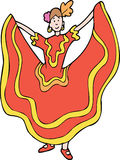 tancerza spanish royalty ilustracja