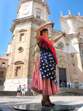 tancerza tanów fan flamenco dziewczyny ilustraci spanish Obraz Royalty Free