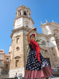 tancerza tanów fan flamenco dziewczyny ilustraci spanish Zdjęcie Stock