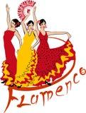 tancerza tanów fan flamenco dziewczyny ilustraci spanish Obrazy Royalty Free