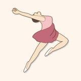 Tancerza tematu elementów wektor, eps Zdjęcia Royalty Free