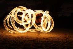 tancerza zmroku ogień Fotografia Royalty Free