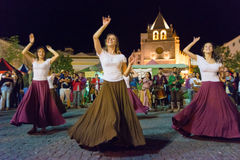 tancerze średniowiecznych zdjęcie royalty free