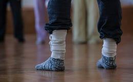tancerze foots, nogi, na podłoga Obraz Stock