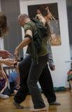 tancerze improwizują na dżemów tancerzy kontakcie Zdjęcie Stock