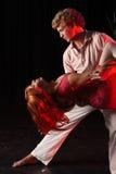 Tancerze na scenie Obrazy Stock