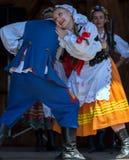 Tancerze od Polska w tradycyjnym kostiumu Obraz Royalty Free