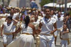 Tancerze przy Arica karnawałem, Chile Zdjęcia Stock