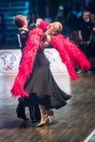 Tancerze tanczy łacińskiego tana Obrazy Stock