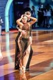Tancerze tanczy łacińskiego tana Zdjęcie Royalty Free