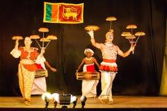 Tancerze w Kandy, Sri Lanka Zdjęcie Stock