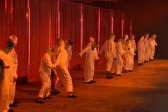 Tancerze wykonują przy Rochambeau pasa startowego przedstawieniem Zdjęcie Royalty Free