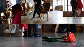 Tancerzy cieki w sala zdjęcie wideo