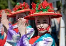 tancerzy festiwalu japończyk Obrazy Royalty Free