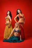 tancerzy potomstwa trzy Zdjęcie Stock