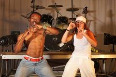 tancerzy styl wolny hip hop dwa Zdjęcia Stock