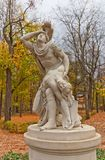 Tancred and Clorinda statue (copy of 1791) in Warsaw, Poland Royalty Free Stock Photos