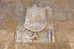 Tancredi fountain. Brindisi. Puglia. Italy. Royalty Free Stock Photo