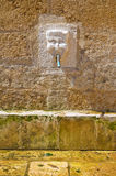 Tancredi fountain. Brindisi. Puglia. Italy. Royalty Free Stock Images
