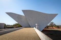 Tancredo Neves Pantheon van het Vaderland en de Vrijheid bij Drie Bevoegdheden Plein - Brasilia, Federale Distrito, Brazilië stock afbeeldingen