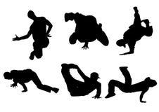 tanczący ja silhouette Obrazy Royalty Free