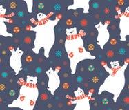 Tanczyć niedźwiedzia Bożenarodzeniowego bezszwowego wzór royalty ilustracja