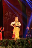Tanczyć w sceny przedstawieniu w nowego roku przedstawieniu obraz royalty free