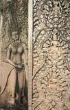 Tanczyć Apsara na bramie Angkor Wat Zdjęcia Royalty Free