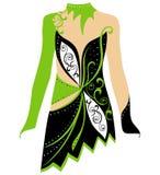 Tanczy kostium, jeździć na łyżwach suknię, rytmiczne gimnastyki kostiumowe Obraz Royalty Free