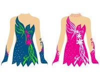 Tanczy kostium, jeździć na łyżwach suknię, rytmiczne gimnastyki kostiumowe Fotografia Royalty Free