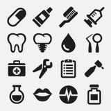 Tand geplaatste pictogrammen Royalty-vrije Stock Afbeelding
