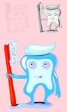 Tand-gezondheid-maak schoon Stock Afbeeldingen