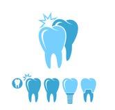 tand- hygien Isolerade tänder på bakgrund stock illustrationer