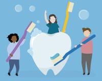 Tand- hygien och hälsovård stock illustrationer