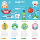 Tand- hygienbaner och infographics Royaltyfria Foton