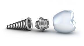 tand- implantat dess liggande sida Arkivbild