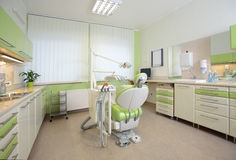 tand- inre modernt kontor Royaltyfri Foto