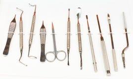 Tand- instrument för stomatologyövning Arkivfoton