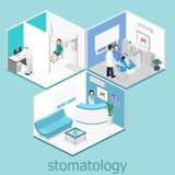 tand- klinik plan inre av kontoret för tandläkare` s vektor illustrationer